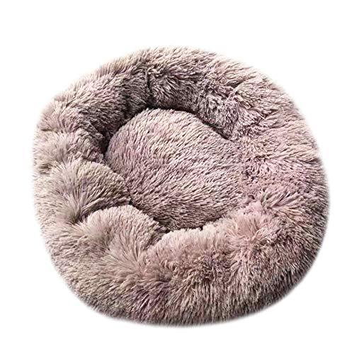LuMon Plüsch-Haustierbett, Donut-Kuschelbett, lindert Aufregung, bequem, warm, Plüsch, Haustierbett für Haustiere, Katze…