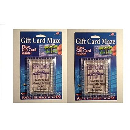 Amazon Com 2 Pack Gift Card Maze Puzzle Brain Teaser Fun