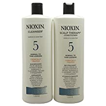 System 5 Cleanser & Scalp Therapy Conditioner Duo by Nioxin for Unisex - 33.8 oz Shampoo & Conditioner