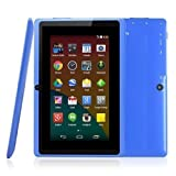 BTC Flame UK Quad Core 7' Tablet PC (8GB HDD, Google Android KitKat, HDMI, WIFI, USB, Bluetooth, res:1024x600) - Blue