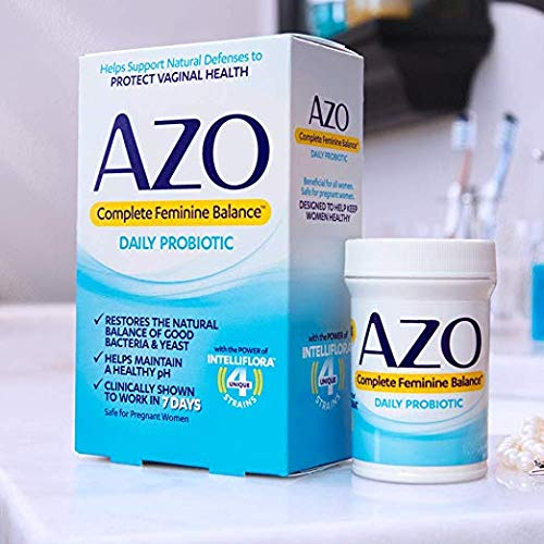 AZO Complete Feminine Balance Women's Daily Probiotic | Clinically Proven to Help Protect Vaginal Health | Clinically Shown to Work in 7 Days* | 85 Count