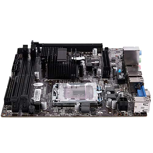 Semoic G41 771/775 Pin Practical Desktop Computer Mainboard Support for Xeon 771 Pin/Core 775 Pin CPU with SATA 2 USB 2.0 DDR3 1333 Dual Channel Motherboard for Intel