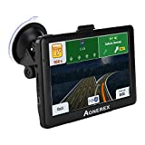 AONEREX Car GPS Navigation, 7-inch HD Voice Prompt System, 8GB-128MB Car Navigation System,Lifetime Map Update