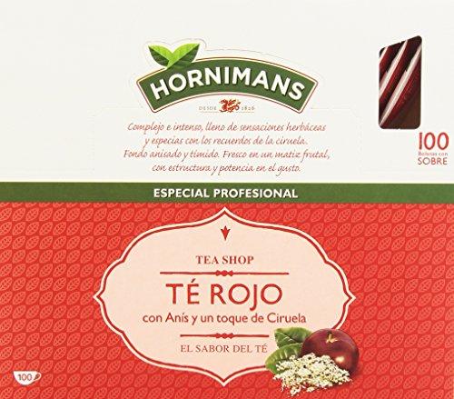 Hornimans - Te rojo - con anis y un toque de ciruela - 100 bolsitas