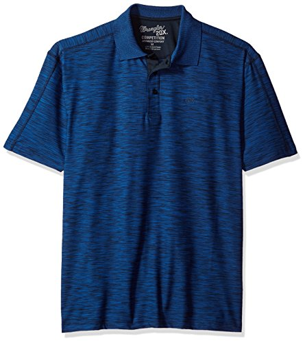 Wrangler Men's 20X Advanced Comfort Short Sleeve Performance Polo Shirt, navy, XL