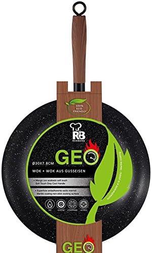 Sartén wok antiadherente, de acero al carbono, revestimiento de ...