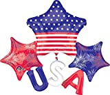 USA Stars and Stripes 51'' Patriotic Balloon Float