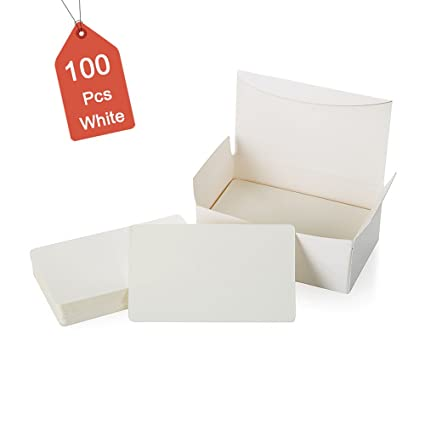 100pcs Blank White Cards Kraft Note Paper Business Cards Vocabulary Word Card Message Card Diy Gift Card Blank Paper Tagswhite