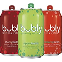 Bubly Sparkling Water 18-Ct 3 Flavor Variety Pack (Apple/Cherry/Strawberry)