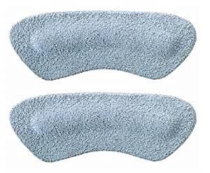 Pedag Stop Padded Leather Heel Grips, Gray, One Pair
