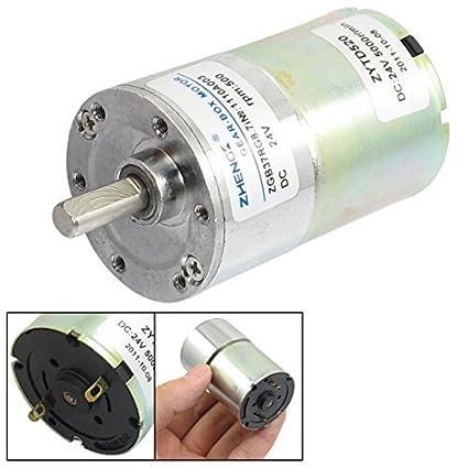Motor de Redução de velocidade DealMux 500rpm 24VDC 6 milímetros Shaft Dia Voltada