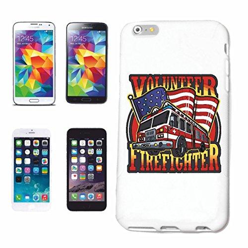 """cas de téléphone iPhone 6+ Plus """"POMPIERS AMERICAN POMPIER BADGE AVEC CHEMINEE CAMION POMPIER Fire Company VOLONTAIRE POMPIER FFW INSERT HEAD PROFESSIONNEL FIRE STATION D' INCENDIE"""" Hard Case Cover Té"""