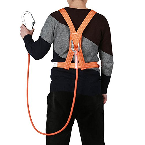 XINDA Outdoor Aerial Protection Belt Anti Falling Safety Hook High Altitude Operation Wear-Resistant Climbing Polesafety Belt (蓝色) by XINDA (Image #4)