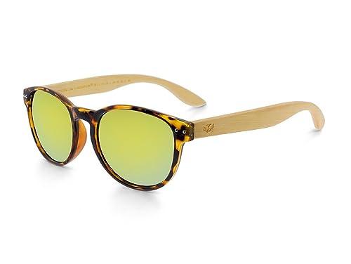 Gafas de madera MOSCA NEGRA modelo MIX OMEGA Leopard X1 Polarized - Wood Sunglasses