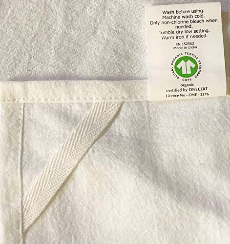 10 Pack Flour Sack Dish Towels, Certified Organic Cotton, Flour Sack Towels, Highly Absorbent, Tea Towels for Embroidery…