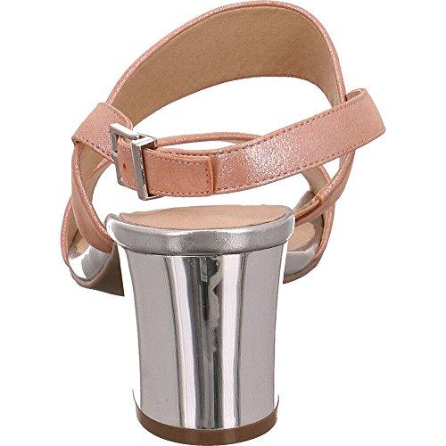 Caprice Femme arrière Metal Apricot 28302 Sandales Bride PRxnpzTP