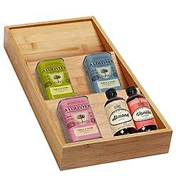 Kitchen Spice Drawer Organizer Wooden Spice Rack Organizer Bamboo 3 Tier Spice Organizer for Spice Jars spice racks