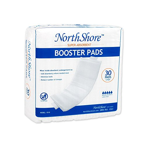 NorthShore Booster Pads with Adhesive, Large, (Adhesive Absorbent)