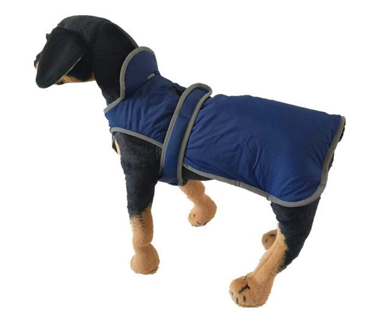 Navy X-Large Navy X-Large GabeFish Pets Fleece Coats Small Medium Large Breeds Dogs Warm Vests Jackets with Harness Zipper Navy X-Large