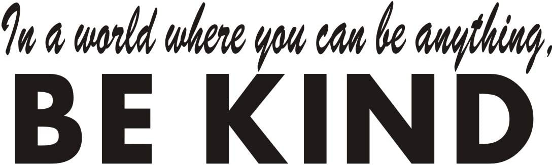 Be Kind Wall Decal, Classroom Inspirational Lettering Sticker, Kindness Sticker for Kids Room, Bedroom Quote Vinyl Wall Sticker, Home Decor, Black