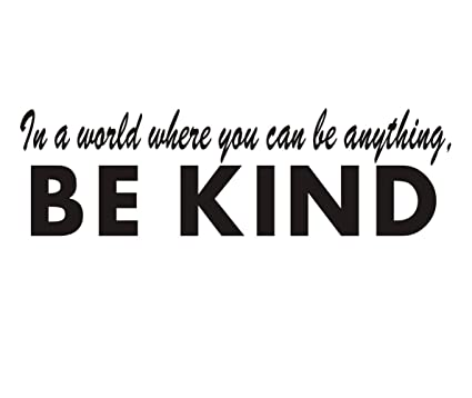 Amazoncom Be Kind Wall Decal Classroom Inspirational Lettering