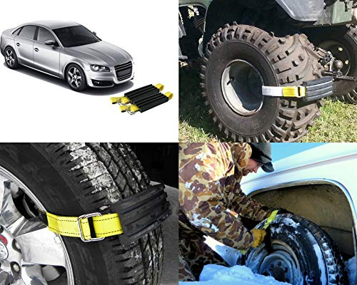 Trac-Grabber – Snow, Mud and Sand Tire Traction Device for Cars and Small  SUVs – Set of 2 – A Chain / Snow Tire Alternative That Helps You Get  Unstuck