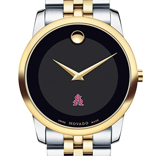 Arizona-State-Mens-Movado-Two-Tone-Museum-Classic-Bracelet