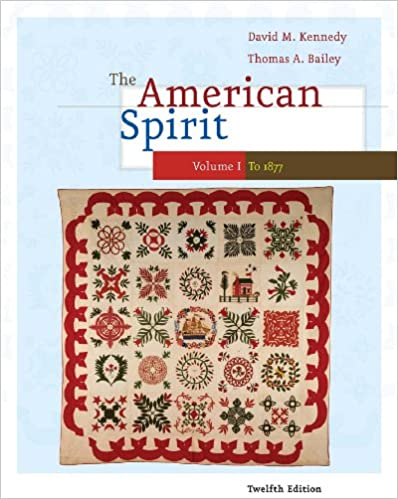 Amazon.com: The American Spirit: United States History as Seen by Contemporaries, Volume I: 1 eBook: David M. Kennedy, Thomas Bailey: Kindle Store