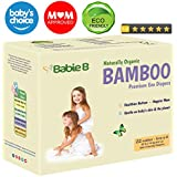 Best Bamboo Diapers | Eco-Friendly Hypoallergenic | Silky Soft w/Wetness Indicator Wicks Away Moisture to Keep Your Baby Dry & Happy | Premium High Quality | Size 5-6 | 30+lb for Sensitive Skin 22ct