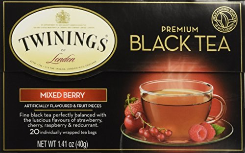 (Twinings Premium Mixed Berry Black Tea/ 20 Tea Bags / 40g / 1.41 oz)