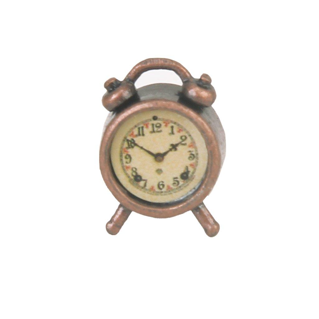 Living Room A Metal Alarm Clock 1/12 Dollhouse Miniature Generic