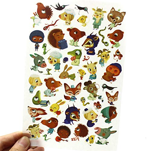 Scrapbooking Happy Planner Journal Happiness Craft Cartoon Animals Rub On for Scrapbooking Happy Planner/Card Making/Journaling Project ()