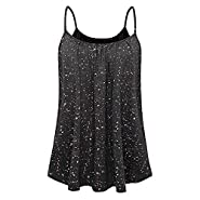 MURTIAL Women Vest Undershirt Sleeveless T-Shirts Summer Printed Blouse Tank Tops Camis Clothes