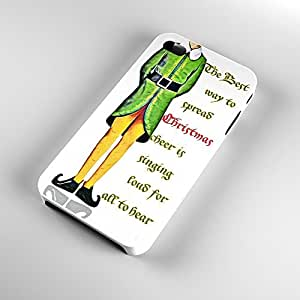 V21.4 Christmas iPhone Case 4/4S - iPhone 4 funny Christmas case - Best Quality Hard Plastic Case - AArt (White Case)