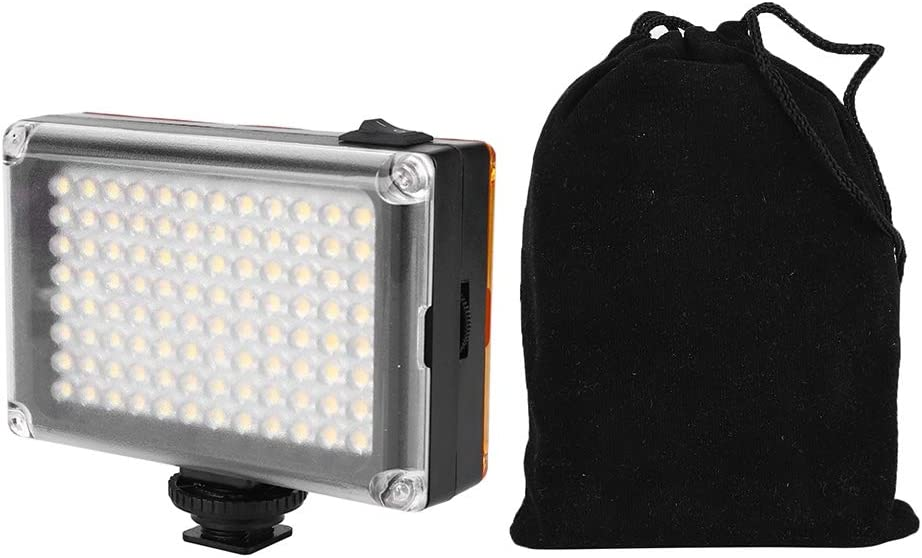 Dimmable Portable Mini 96 LEDs On Camera Video Fill Light 3200K//5400K for Canon Nikon Sony DSLR Cameras for Photography Studio Lighting LED Video Light Panel
