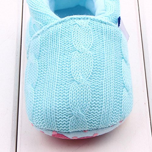 Tefamore Zapatos de niño pequeño Del bebé con la de deporte del estilo de la manera Suela suave antirresbaladiza Cielo azul