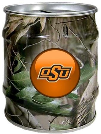 (Camo) - Oklahoma State Cowboys OSU NCAA Realtree Tin Bank   B007J5UO46
