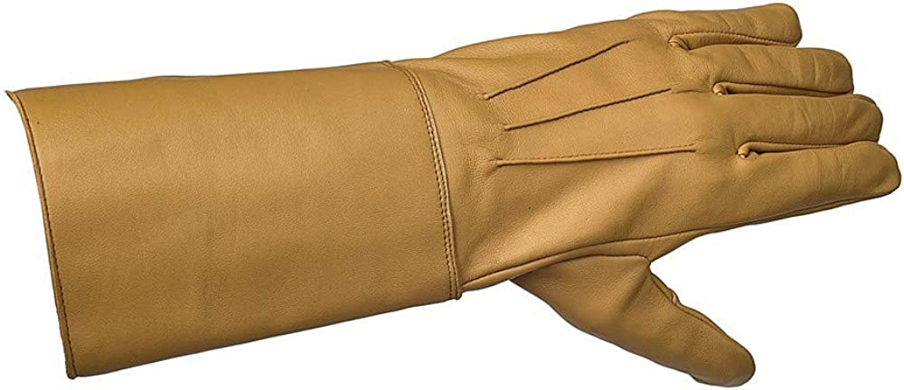 Swiftwears Medieval Gauntlet Leather Cosplay Gloves Long Arm Cuff