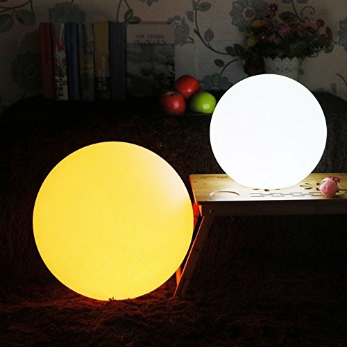 LED Ball Light, Rechargeable Remote Control Cordless 16 RGB Colors Decorative waterproof Ball Lights Indoor Outdoor Lighting Night Lights for Home Garden(8 inch-sphere) ...