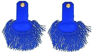 Hombreras de hombro Seda Azul (1par)