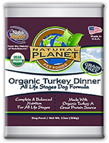 Natural Planet Organics Canned Turkey Dog Food - 12 Pack (13Oz Each)