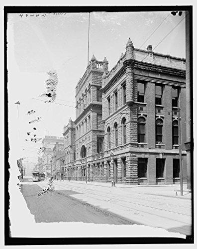 Vintography 16 x 20 Ready to Hang Canvas Wrap County Court House Cincinnati Ohio 1905 Detriot Publishing - House Ohio Cincinnati Court