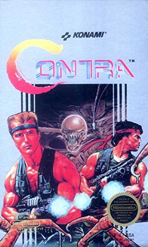 Game Nes Contra Nintendo - ***CONTRA NES NINTENDO GAME COSMETIC WEAR~~~