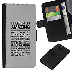 """JackGot ( Increíble Tipografía"""" ) Samsung ALPHA G850 la tarjeta de Crédito Slots PU Funda de cuero Monedero caso cubierta de piel"""