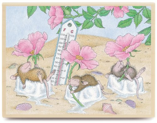 Stampabilities House Mouse Wood Mounted Rubber Stamp: Beach Cooler Stampabilities House Mouse