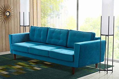 MY-Furniture LUCIENE 3-Sitzer Sofa in Genoa Pfauenblau