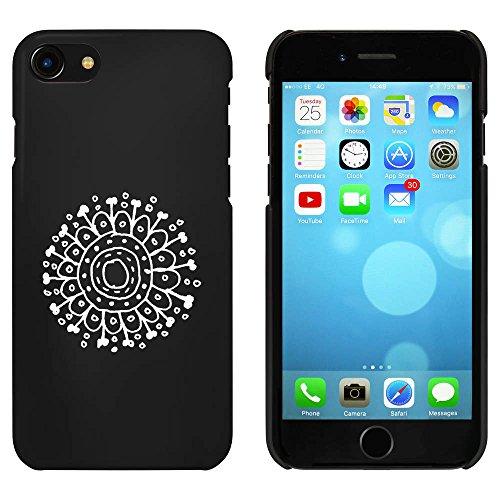 Noir 'Motif Fleur' étui / housse pour iPhone 7 (MC00062649)