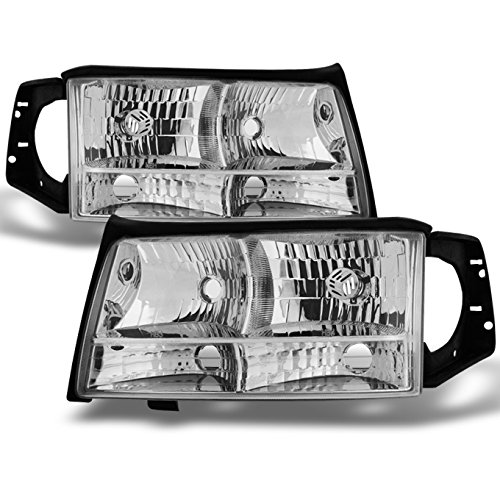 1997 1998 1999 Cadillac Deville Driver Left + Passenger Right Side Headlights Headlamps Set Assembly
