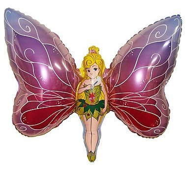 - Toyland Huge Fairy/ Butterfly Foil Balloon 24''