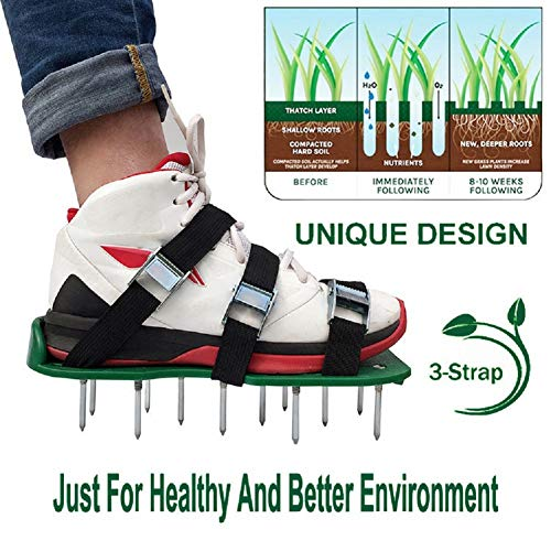 sisileeda Garden Manual Aerators Ripper Shoes Men Grass Spiked Shoes Lawn Loose Soil Hand Tools Sport Fitness Equipment Home Gadget Nail